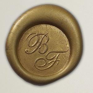Lacre de resina para convite de casamento - Cor 43 - Dourado Envelhecido - Art Invitte Convites