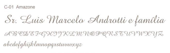 Letras Clássicas para convites 1