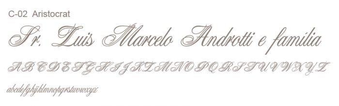 Letras Clássicas para convites 2
