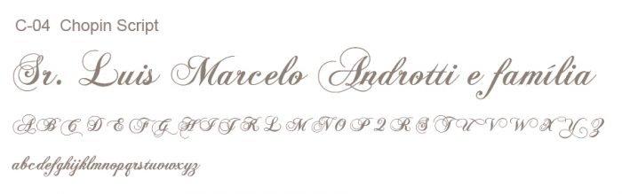 Letra e Fontes para convites de casamento - Letras Clássicas C-04- Art Invitte Convites