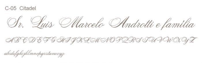 Letra e Fontes para convites de casamento - Letras Clássicas C-05 - Art Invitte Convites
