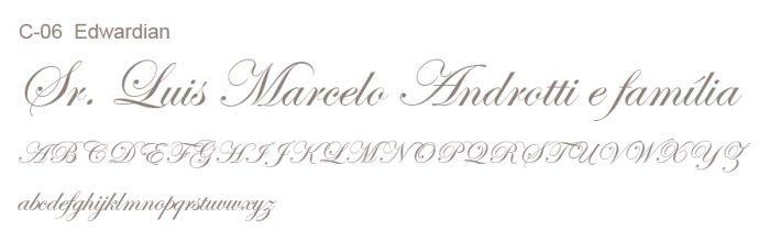 Letra e Fontes para convites de casamento - Letras Clássicas C-06 - Art Invitte Convites