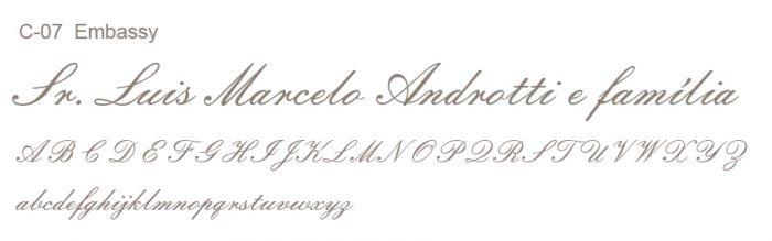Letra e Fontes para convites de casamento - Letras Clássicas C-07 - Art Invitte Convites