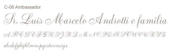 Letras Clássicas para convites 4
