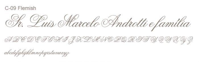 Letra e Fontes para convites de casamento - Letras Clássicas C-09 - Art Invitte Convites