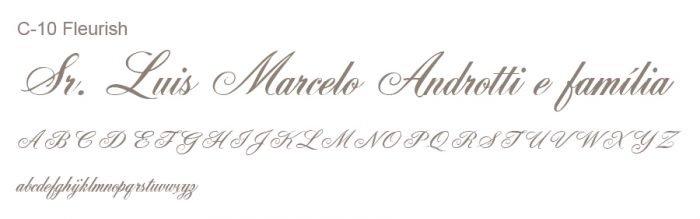 Letra e Fontes para convites de casamento - Letras Clássicas C-10 - Art Invitte Convites
