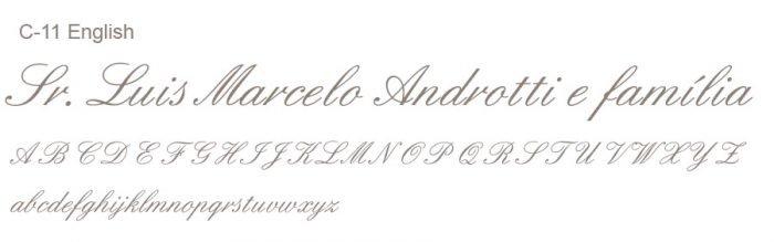 Letras Clássicas para convites 5