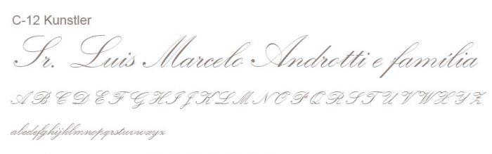 Letra e Fontes para convites de casamento - Letras Clássicas C-12 - Art Invitte Convites