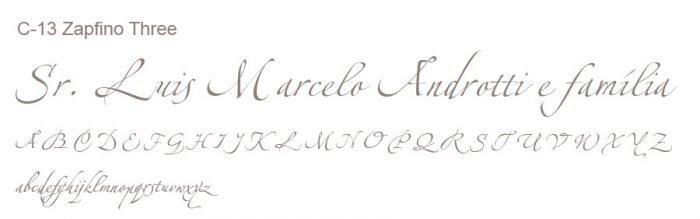 Letra e Fontes para convites de casamento - Letras Clássicas C-13 - Art Invitte Convites