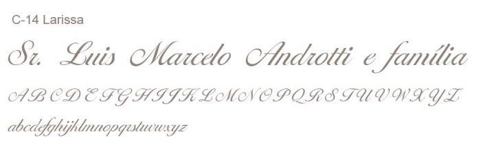 Letra e Fontes para convites de casamento - Letras Clássicas C-14 - Art Invitte Convites