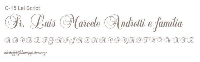 Letra e Fontes para convites de casamento - Letras Clássicas C-15 - Art Invitte Convites