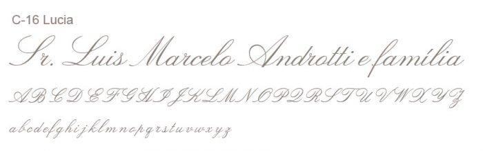 Letra e Fontes para convites de casamento - Letras Clássicas C-16 - Art Invitte Convites