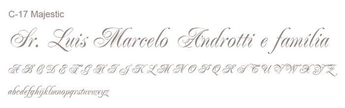 Letra e Fontes para convites de casamento - Letras Clássicas C-17 - Art Invitte Convites