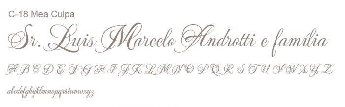 Letra e Fontes para convites de casamento - Letras Clássicas C-18 - Art Invitte Convites
