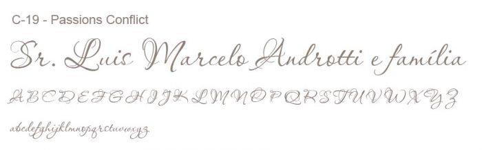 Letra e Fontes para convites de casamento - Letras Clássicas C-19 - Art Invitte Convites