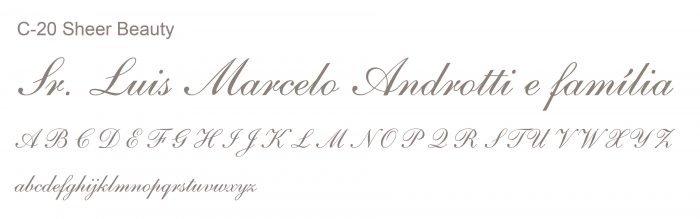 Letras Clássicas para convites 6