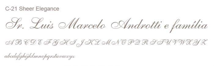 Letra e Fontes para convites de casamento - Letras Clássicas C-21 - Art Invitte Convites