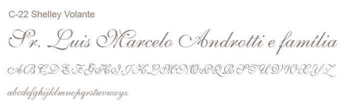 Letra e Fontes para convites de casamento - Letras Clássicas C-22 - Art Invitte Convites