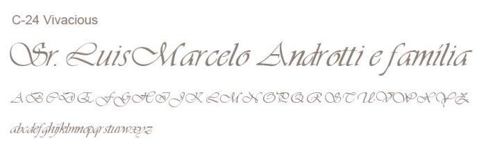 Letra e Fontes para convites de casamento - Letras Clássicas C-24 - Art Invitte Convites