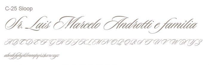 Letra e Fontes para convites de casamento - Letras Clássicas C-25
