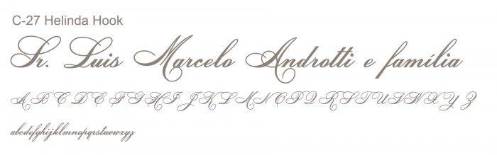 Letra e Fontes para convites de casamento - Letras Clássicas C-27 - Art Invitte Convites
