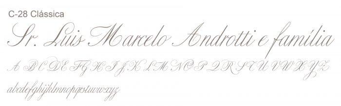 Letra e Fontes para convites de casamento - Letras Clássicas C-28 - Art Invitte Convites