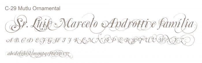 Letra e Fontes para convites de casamento - Letras Clássicas C-29 - Art Invitte Convites