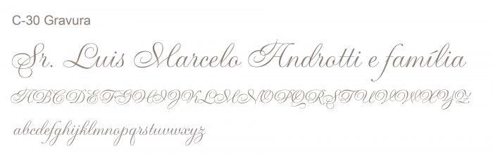 Letra e Fontes para convites de casamento - Letras Clássicas C-30 - Art Invitte Convites