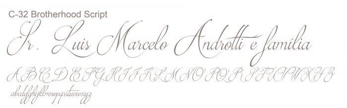 Letra e Fontes para convites de casamento - Letras Clássicas C-32 - Art Invitte Convites