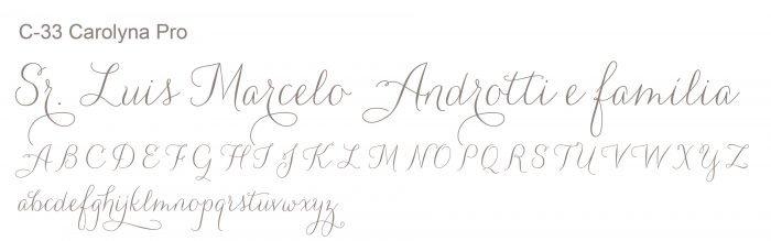 Letra e Fontes para convites de casamento - Letras Clássicas C-33 - Art Invitte Convites