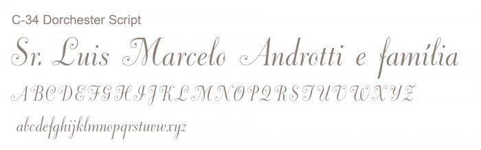 Letra e Fontes para convites de casamento - Letras Clássicas C-34 - Art Invitte Convites