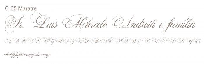 Letra e Fontes para convites de casamento - Letras Clássicas C-35 - Art Invitte Convites