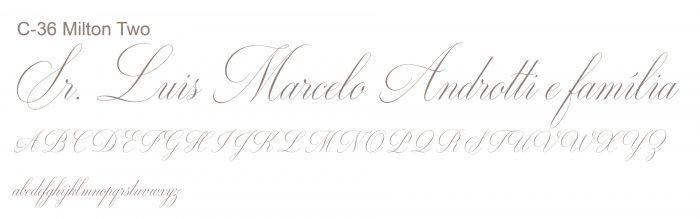 Letra e Fontes para convites de casamento - Letras Clássicas C-36 - Art Invitte Convites