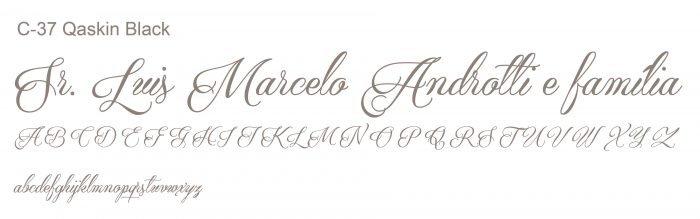 Letra e Fontes para convites de casamento - Letras Clássicas C-37 - Art Invitte Convites