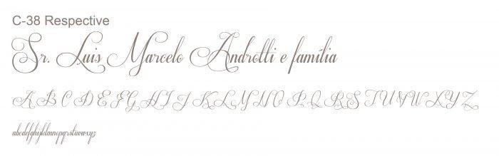 Letra e Fontes para convites de casamento - Letras Clássicas C-38 - Art Invitte Convites