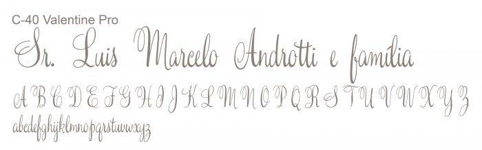 Letra e Fontes para convites de casamento - Letras Clássicas C-40 - Art Invitte Convites