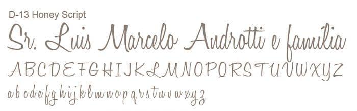 Letra e Fontes para convites de casamento - Letras Debutantes D-13 Art Invitte Convites