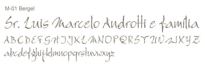 Letra e Fontes para convites de casamento - Letras Clássicas M-01 - Art Invitte Convites