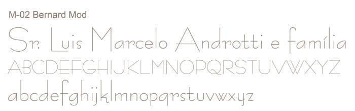 Letra e Fontes para convites de casamento - Letras Clássicas M-02 - Art Invitte Convites