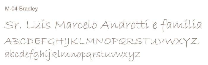 Letra e Fontes para convites de casamento - Letras Clássicas M-04 - Art Invitte Convites