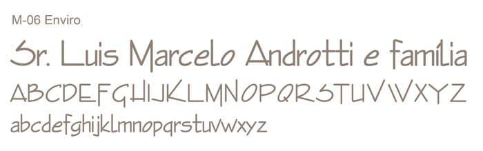 Letra e Fontes para convites de casamento - Letras Clássicas M-06 - Art Invitte Convites