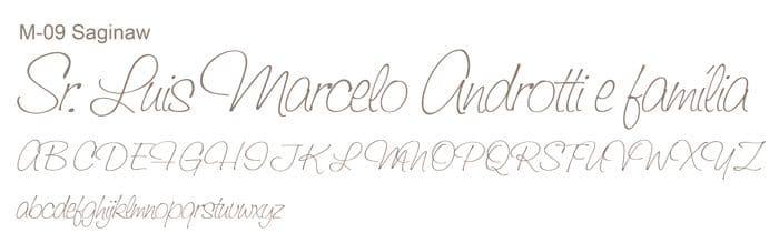 Letra e Fontes para convites de casamento - Letras Clássicas M-09 - Art Invitte Convites