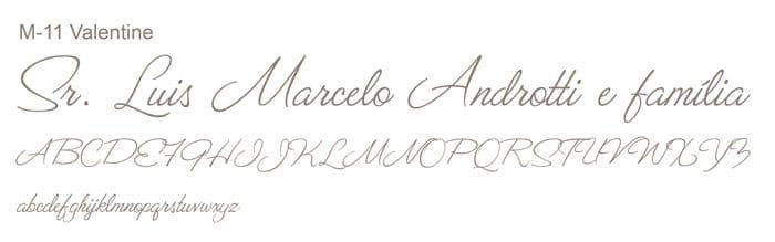 Letra e Fontes para convites de casamento - Letras Clássicas M-11 - Art Invitte Convites