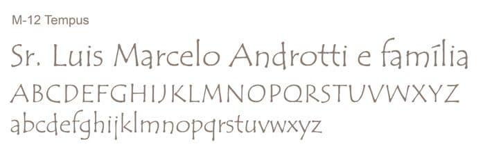 Letra e Fontes para convites de casamento - Letras Clássicas M-12 - Art Invitte Convites