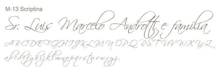 Letra e Fontes para convites de casamento - Letras Clássicas M-13 - Art Invitte Convites