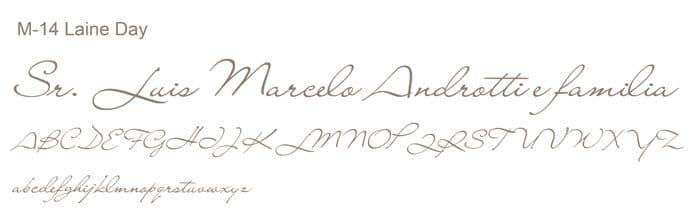 Letra e Fontes para convites de casamento - Letras Clássicas M-14 - Art Invitte Convites