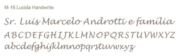 Letra e Fontes para convites de casamento - Letras Clássicas M-16- Art Invitte Convites