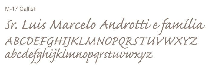 Letra e Fontes para convites de casamento - Letras Clássicas M-17 - Art Invitte Convites