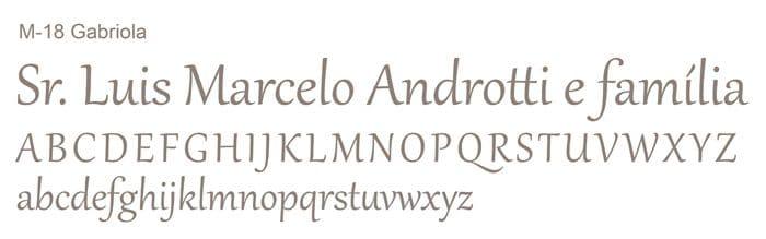 Letra e Fontes para convites de casamento - Letras Clássicas M-18 - Art Invitte Convites