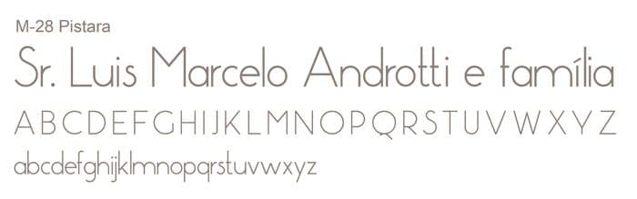 Letra e Fontes para convites de casamento - Letras Clássicas M-28 - Art Invitte Convites